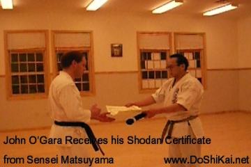 John O'Gara and Sensei Matsuyama